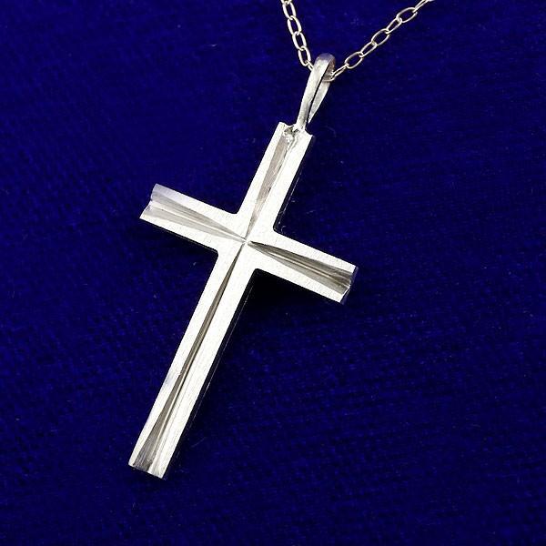 プラチナ クロス ネックレス トップ レディース pt999 シンプル 純プラチナ 十字架 ペンダント 人気 ホーニング つや消し チェーン 女性 送料無料