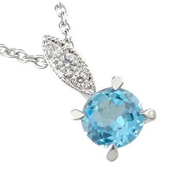 ネックレス 天然石 ダイヤモンド プラチナ ペンダント 大粒 選べる天然石 ダイヤ 宝石 送料無料