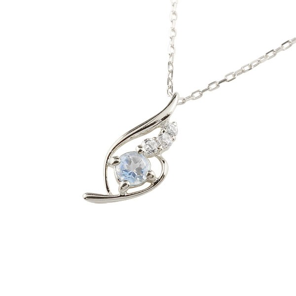 ブルームーンストーン ネックレス ダイヤモンド シルバー ペンダント チェーン 人気 6月誕生石 sv 宝石 送料無料