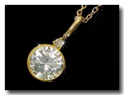 ネックレス ダイヤモンドネックレス ネックレススワロフスキーキュービックジルコニアアズキネックレスイエローゴールドK18 チェーン 人気 18金 ダイヤ