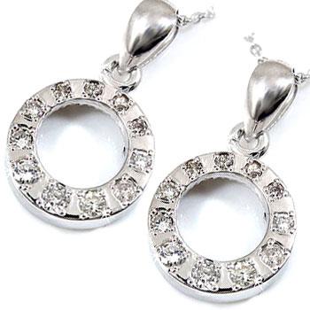 ダイヤモンドネックレス ペアネックレス ダイヤモンド ホワイトゴールド チェーン 人気 18金 ダイヤ カップル 送料無料