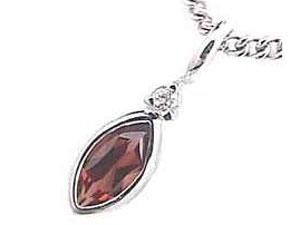 ネックレスガーネットネックレス ダイヤモンド ホワイトゴールドK18 1月の誕生石ガーネット チェーン 人気 18金 ダイヤ 送料無料