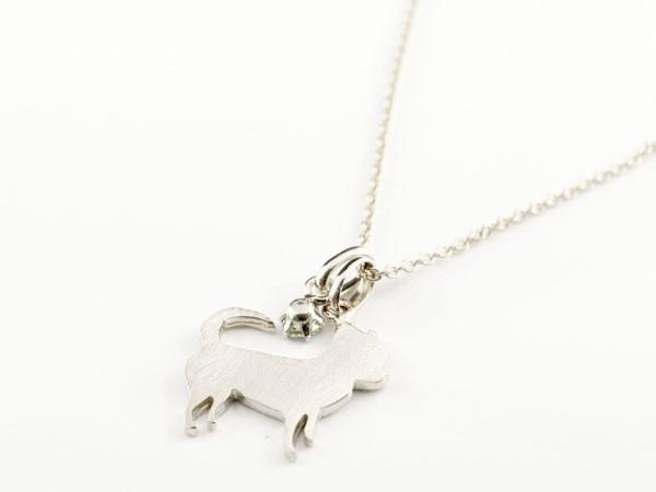 ネックレス 犬 プラチナ ペリドット 一粒 ペンダント チワワ いぬ イヌ8月誕生石 チェーン 人気 送料無料UVLpGqSzM