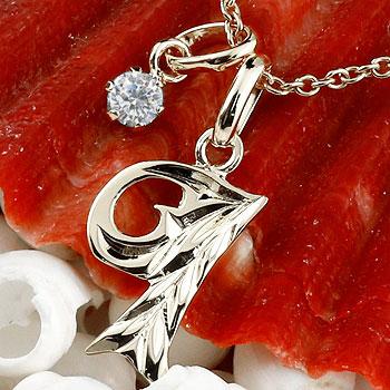 ハワイアンジュエリー イニシャル ネーム メンズ ハワイアン I ネックレス トップ ダイヤモンド プラチナ ペンダント アルファベット チェーン 人気 男性 ダイヤ