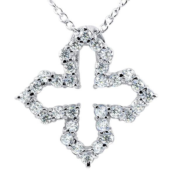 プラチナネックレス ダイヤモンド オープンクロス ペンダント pt900 チェーン 十字架 ダイヤ レディース 人気 妻 嫁 奥さん 女性 彼女 娘 母 祖母 パートナー