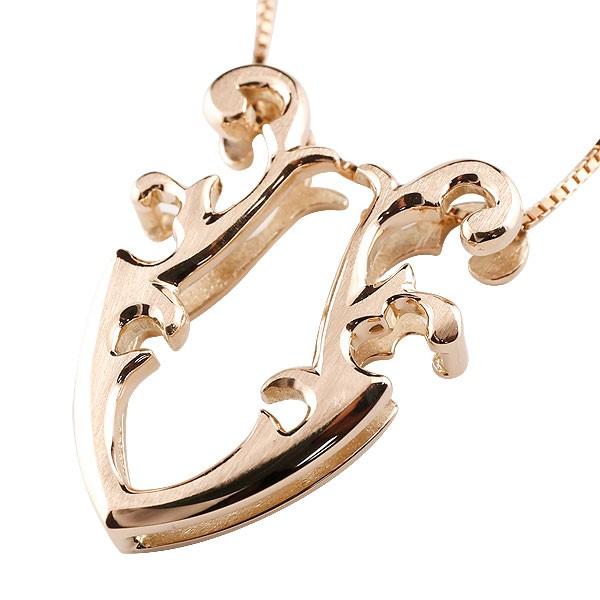馬蹄 ピンクゴールドk18 ネックレス ペンダント ホースシュー 蹄鉄 アンティーク風 18金 チェーン 人気 バテイ プレゼント 女性 送料無料