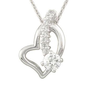 ダイヤモンド オープンハート 誕生石 ネックレス 流れ星 ネックレス プラチナ チェーン 人気 ダイヤ レディース プレゼント 女性 送料無料