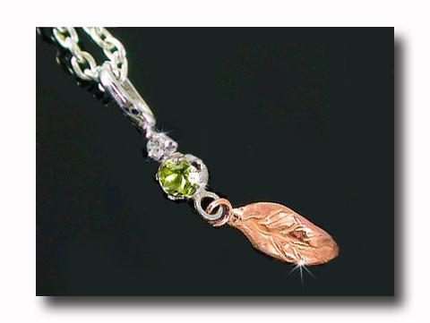 休日 8月の誕生石ペリドット フェザー 羽 誕生石 ペリドット 未使用品 ネックレス トップ 一粒 8月誕生石 ダイヤモンド ダイヤ レディース 宝石 送料無料 ゴールドk18 18k チェーン 18金 人気