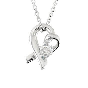 ダイヤモンド オープンハート 誕生石 ネックレス 一粒 ダイヤ 0.10ct ペンダントネックレス ホワイトゴールドk18 18k 人気 18金 レディース 女性 送料無料