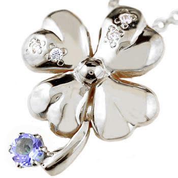 クローバー ネックレス アメジスト 四葉 ダイヤモンド ダイヤ ペンダント 2月誕生石 ホワイトゴールドk18 18k レディース チェーン 人気 18金 女性 送料無料