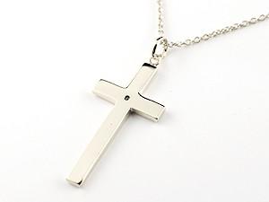 ネックレス ルビー クロス シルバー925 ペンダント 十字架 シンプル 地金 チェーン 人気 7月の誕生石 レディース 宝石プレゼント 女性 送料無料29DIHE