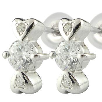 40f5e7ea0c3204 最新人気 18金 ピアス ハート ダイヤモンド ピアス ホワイトゴールドk18 大粒 18金 天然石 ダイヤ 贈り物 誕生日プレゼント ギフト  ファッション 海外最新