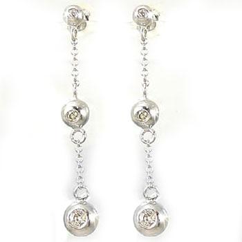 18金 ダイヤモンドピアストリロジー ホワイトゴールドk18ダイヤモンド 0.16ct 天然石 ダイヤ レディース 宝石 18k 送料無料 人気