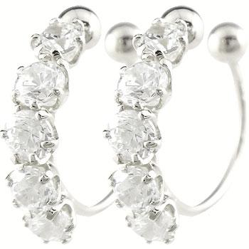 プラチナ ノンホールピアス イヤリング ダイヤモンド ダイヤ 0.50ct オリジナル 簡単装着 フーププラチナ900 誕生石 レディース 宝石 送料無料