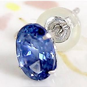 サファイア 片耳ピアス ホワイトゴールドk18 9月誕生石 18金 レディース 宝石 最短納期 送料無料