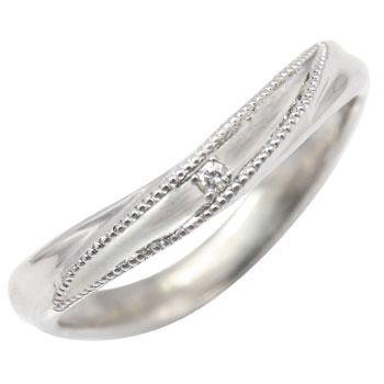 プラチナリング ダイヤモンドリング 一粒 指輪 ピンキーリング ミル打ち ミル ダイヤ 4月誕生石 ストレート ファッションリング 贈り物 誕生日プレゼント ギフト ファッション 妻 嫁 奥さん 女性 彼女 娘 母 祖母 パートナー 送料無料