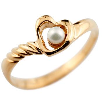 オープンハート リング ベビーパール 指輪 ピンクゴールドk18 18金 6月誕生石 ファッションリング 贈り物 誕生日プレゼント ギフト ファッション
