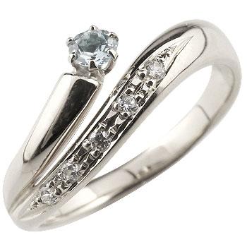 アクアマリン プラチナリング 指輪 ダイヤモンド ダイヤ スパイラルリング ピンキーリング 3月誕生石 ストレート ファッションリング 贈り物 誕生日プレゼント ギフト ファッション 妻 嫁 奥さん 女性 彼女 娘 母 祖母 パートナー 送料無料