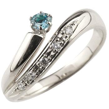ブルートパーズ リング 指輪 ダイヤモンド ダイヤ スパイラルリング ピンキーリング ホワイトゴールドk18 18金 11月誕生石 ストレート ファッションリング 贈り物 誕生日プレゼント ギフト ファッション 妻 嫁 奥さん 女性 彼女 娘 母 祖母 パートナー 送料無料