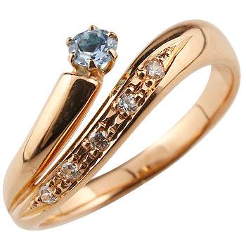 アイオライト リング 指輪 ダイヤモンド ダイヤ スパイラルリング ピンキーリング ピンクゴールドk18 18金 ストレート ファッションリング 贈り物 誕生日プレゼント ギフト ファッション 妻 嫁 奥さん 女性 彼女 娘 母 祖母 パートナー 送料無料