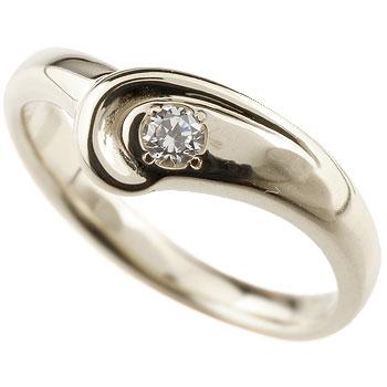 ダイヤモンド プラチナリング 指輪 ダイヤモンドリング ダイヤ ピンキーリング V字 シンプル 一粒 レディース ウェーブリング 4月誕生石 ファッションリング 贈り物 誕生日プレゼント ギフト ファッション お返し 妻 嫁 奥さん 女性 彼女 娘 母 祖母 パートナー 送料無料