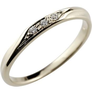 ダイヤモンドリング 指輪 ピンキーリング ホワイトゴールドk18 18金 ダイヤ つや消し シンプル レディース 4月誕生石 ストレート 贈り物 誕生日プレゼント ギフト ファッション お返し