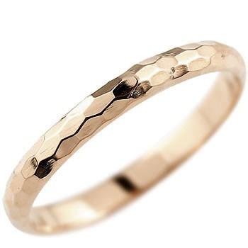ピンキーリング ピンクゴールドk18 指輪 18金 地金リング ストレート 2.3 妻 嫁 奥さん 女性 彼女 娘 母 祖母 パートナー