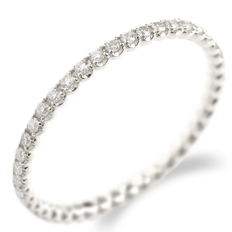 婚約指輪 安い プラチナ リング ダイヤモンド レディース フルエタニティ 指輪 pt900 エンゲージリング ピンキーリング 女性 送料無料
