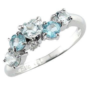 【送料無料】 アクアマリンリング ハート ブルートパーズ ダイヤモンド ホワイトゴールドk18指輪 18金 ダイヤ 3月誕生石 贈り物 誕生日プレゼント ギフト ファッション 妻 嫁 奥さん 女性 彼女 娘 母 祖母 パートナー