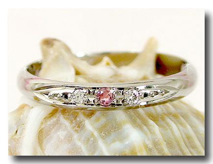 【送料無料】ピンクトルマリン ダイヤモンド プラチナ リング 指輪 ピンキーリング 10月誕生石 ダイヤ ストレート 2.3 贈り物 誕生日プレゼント ギフト ファッション