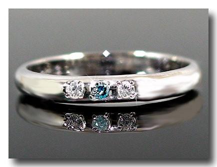 【送料無料】ピンキーリング ダイヤモンドリング ダイヤモンド ブルーダイヤモンド プラチナリング 指輪 ダイヤ 4月誕生石 ストレート 2.3 贈り物 誕生日プレゼント ギフト ファッション 妻 嫁 奥さん 女性 彼女 娘 母 祖母 パートナー