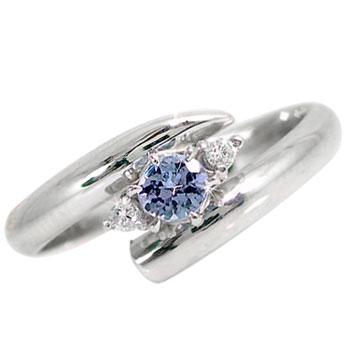 【送料無料】 ピンキーリング タンザナイト 指輪 プラチナリング ダイヤモンド ダイヤ 4月誕生石 ストレート ファッションリング 贈り物 誕生日プレゼント ギフト ファッション 妻 嫁 奥さん 女性 彼女 娘 母 祖母 パートナー