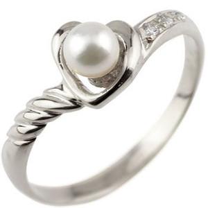 オープンハート プラチナ リング パール ダイヤモンド 指輪 ダイヤ 6月誕生石 ファッションリング 贈り物 誕生日プレゼント ギフト ファッション 妻 嫁 奥さん 女性 彼女 娘 母 祖母 パートナー 送料無料
