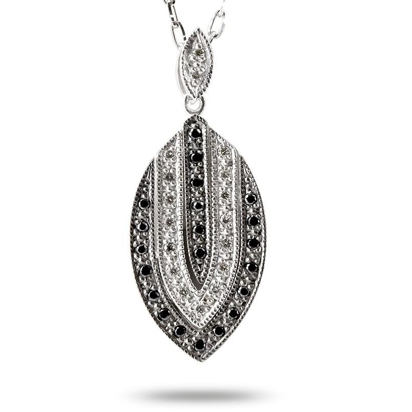 プラチナ 2way ネックレス レディース ダイヤモンド ブラックダイヤモンド ブラックメッキ pt900 ペンダント チェーン 宝石 女性 人気 送料無料