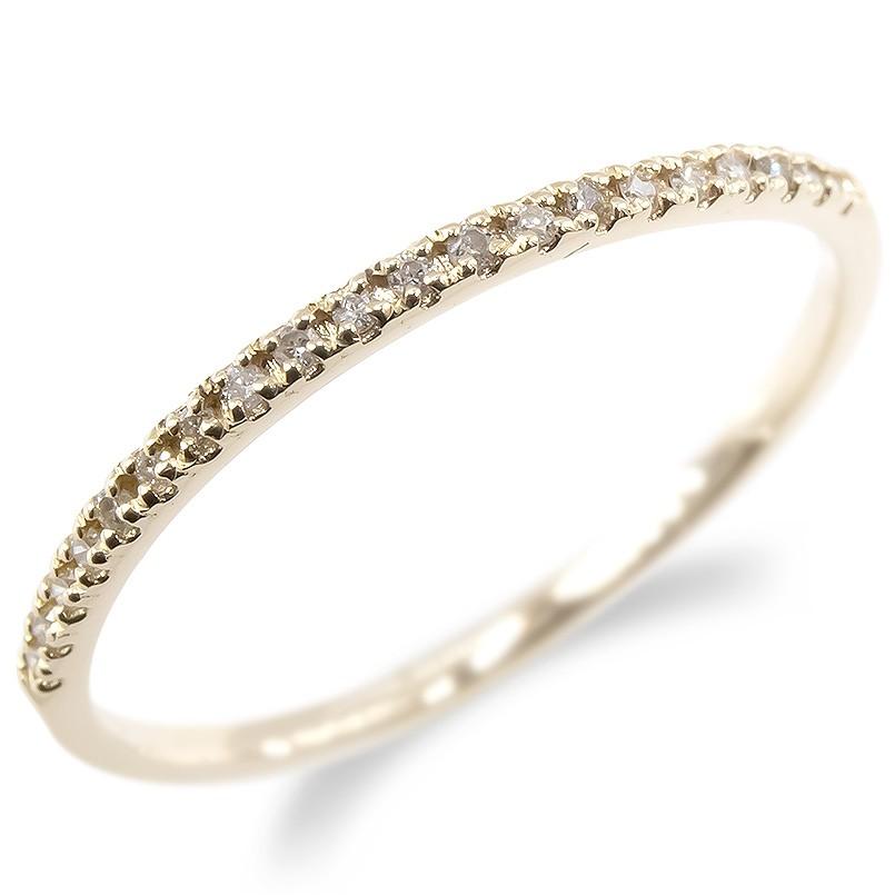 婚約指輪 安い ゴールド リング ダイヤモンド レディース 指輪 ハーフエタニティ 10k イエローゴールドk10 10金 エンゲージリング ピンキーリング 女性 送料無料