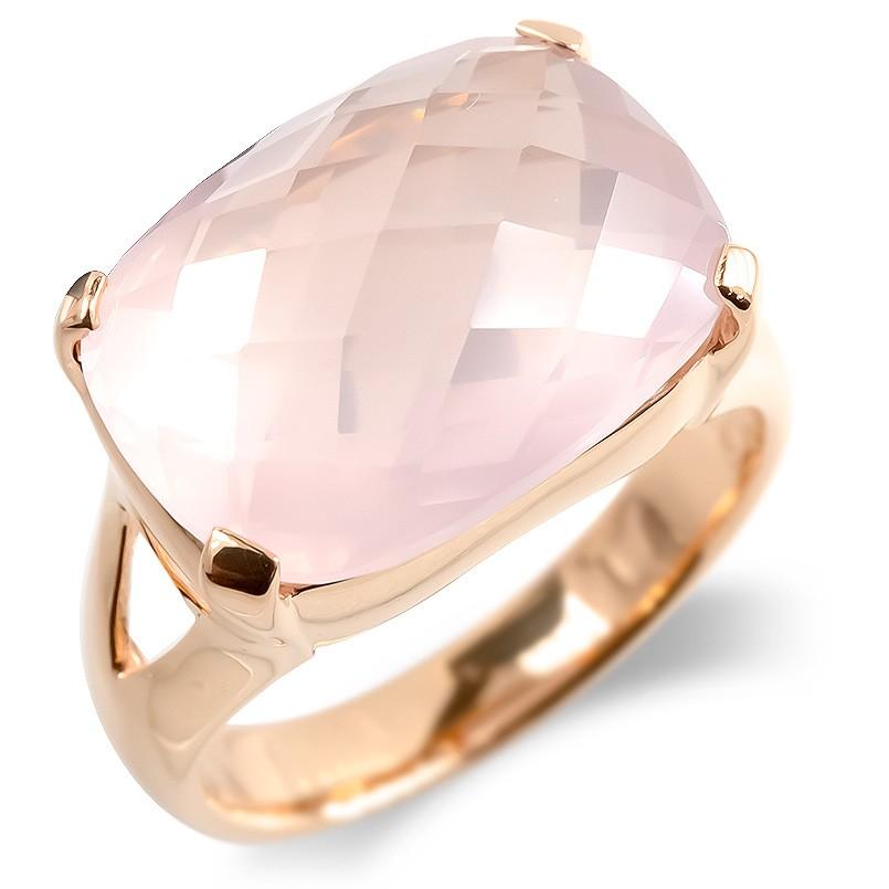 婚約指輪 安い ゴールド リング レディース ローズクオーツ 大粒 指輪 10金 ピンクゴールドk10 エンゲージリング ピンキーリング 女性 送料無料