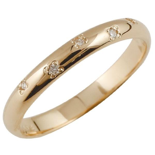 ピンキーリング ダイヤモンド リング ピンクゴールドk10 指輪 k10 10金 ダイヤ ストレート 2.3 宝石 送料無料