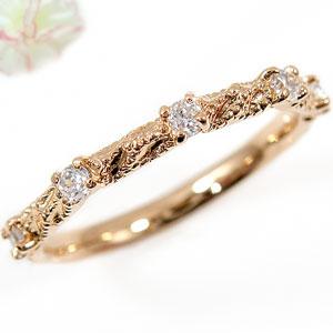 ピンキーリング ダイヤモンド リング ピンクゴールドk10 指輪 k10ダイヤモンド 0.15ct 10金 ダイヤ ストレート 送料無料
