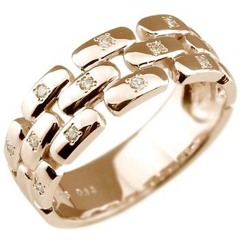 ピンキーリング ダイヤモンドリング ピンクゴールドk18 ダイヤモンド 指輪 k18 結婚指輪 18金 ダイヤ 4月誕生石 ストレート 送料無料