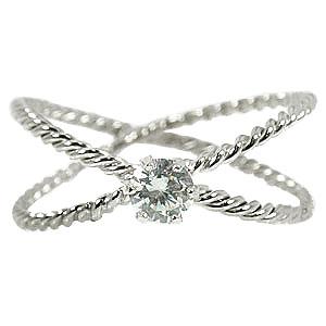ピンキーリング ピンキーリングダイヤモンド 指輪 ホワイトゴールドk18 一粒 ダイヤモンド 18金 ダイヤ 4月誕生石 ストレート 送料無料