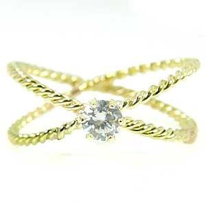ピンキーリング ピンキーリングダイヤモンド 指輪 イエローゴールドk18 k18 一粒 ダイヤモンド 18金 ダイヤ 4月誕生石 ストレート 送料無料