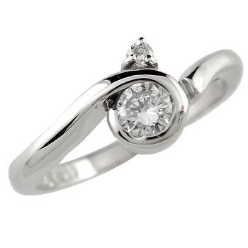 ピンキーリング ダイヤモンドリング ダイヤモンド ホワイトゴールドk10指輪 k10 10金 ダイヤ ストレート 宝石 送料無料