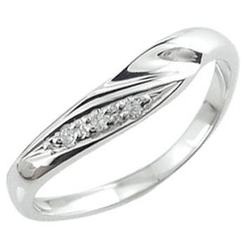 ピンキーリング ダイヤモンド ホワイトゴールドk10リング ホワイトゴールドk10 指輪k10 10金 ダイヤ ストレート 送料無料