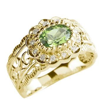 ピンキーリング 指輪 18金 ダイヤモンド リング 幅広 イエローゴールドk18 ダイヤ 4月誕生石 ストレート 宝石 送料無料