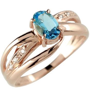 ピンキーリング 指輪ダイヤモンド リング ピンクゴールドk18 18金 ダイヤ 4月誕生石 ストレート 宝石 送料無料