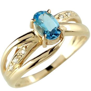 ピンキーリング 指輪ダイヤモンド リング イエローゴールドk18 18金 ダイヤ 4月誕生石 ストレート 宝石 送料無料