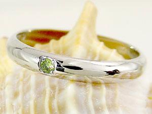 ピンキーリング ペリドット 指輪 刻印 8月誕生石 ホワイトゴールドk18 ばぁばリング お誕生日 敬老の日 長寿のお祝い 18金 ストレート 2.3 送料無料