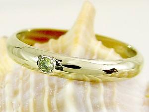 ピンキーリング ペリドット 指輪 刻印 8月誕生石 イエローゴールドk18 ばぁばリング お誕生日 敬老の日 長寿のお祝い 18金 ストレート 2.3 送料無料