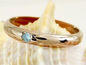 ピンキーリング ブルートパーズ 指輪 刻印 11月誕生石 ピンクゴールドk18 ばぁばリング お誕生日 敬老の日 長寿のお祝い 18金 ストレート 2.3 送料無料