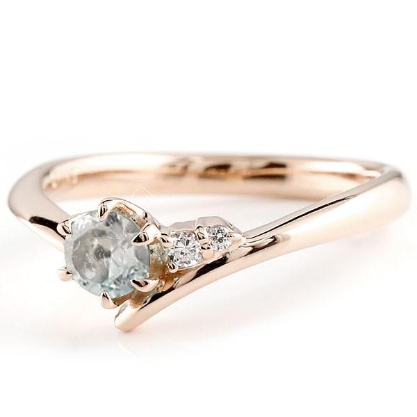 ブルームーンストーン ピンクゴールドk10リング ダイヤモンド 指輪 ピンキーリング 一粒 大粒 k10 レディース 6月誕生石 宝石 送料無料